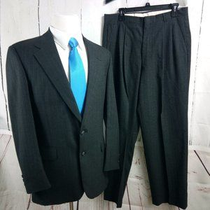Botany 500 Couture 41R Charcoal Striped 2pc Suit
